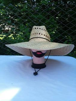 18 1/2 x 20 ''Fisherman Wide Brim Straw Sun Hat, Sombrero de