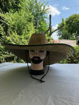 Sombrero de Palma Para Trabajo Fisherman Extra Wide 19 x20 Brim Straw Sun Hat