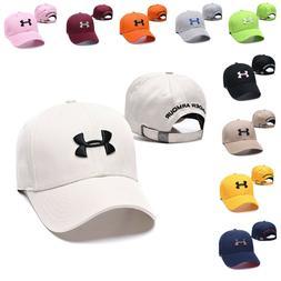 Baseball Cap Adjustable Embroidered UA Fashion Cotton Sun Vi