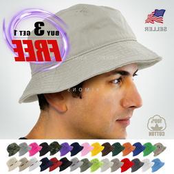 Bucket Hat Cap Cotton Fishing Boonie Brim visor Sun Safari S