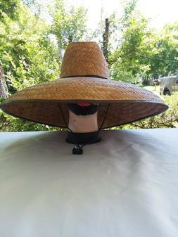 Fisherman Extra Wide 19 x20 Brim Straw Sun Hat, Sombrero de