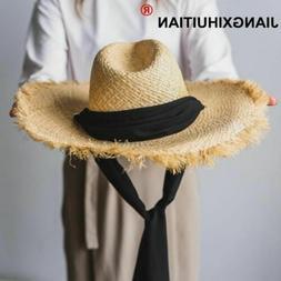 Handmade Weave 100%Raffia Sun Hats Feminino Chapeu Caps Summ