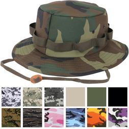 Jungle Hat Camo Bucket Boonie Bush Fishing Wide Brim Militar