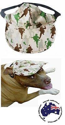 Dog Hat XS S M L XL Army Men Camo- Adjustable Puppy Pet Cap