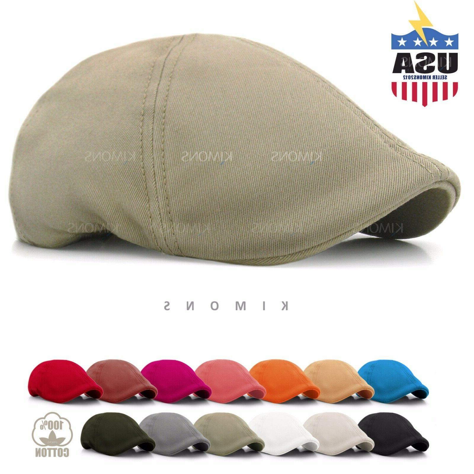 solid cotton gatsby cap mens ivy hat
