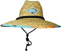 WAVE RUNNER Men's Beach Straw Hat- Wide Brim Sun Hat with UP