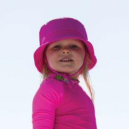 New Zoggs Sun Bucket Hat In Navy & Pink - Swimming Hat For K
