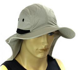 Sun Flap Boonie Cap Bucket Hat Ear Neck Cover Hat Soft Mater