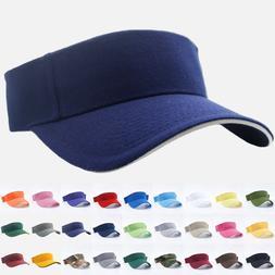 Visor Sun Hat Golf Tennis Beach Mens Cap Adjustable Summer P