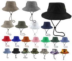 Gelante Unisex 100% Cotton Bucket Hat Fish man Camping Safar