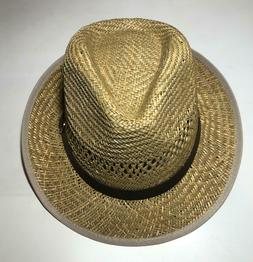 Unisex Fedora Trilby Gangster Cap Summer Beach Sun Straw Pan